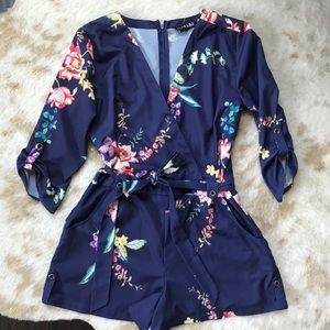 Yumi Kim Navy Floral Romper
